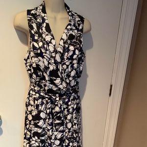 Anne Klein floral sleeveless dress